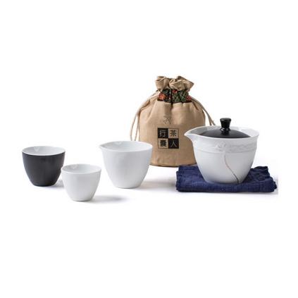 旅行茶具快客杯定制 一壺兩杯戶外便攜功夫茶具套裝收納布袋