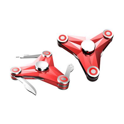 新款指尖陀螺軍刀創意組合工具戶外合金裝備定制