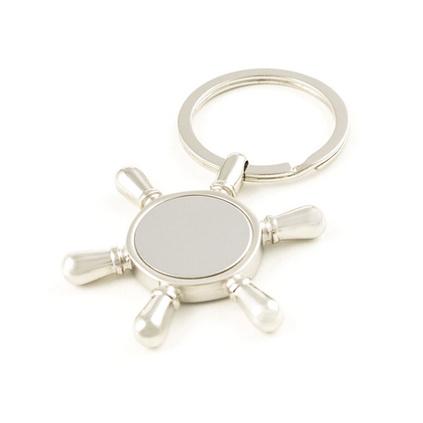 船舵金屬創意掛件鑰匙扣鑰匙圈定做