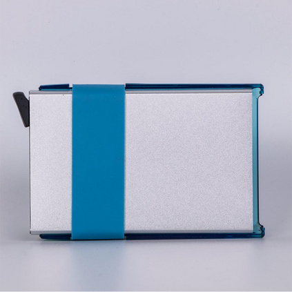 彩殼金盾智能銀行卡夾/名片夾金屬卡包卡盒定制