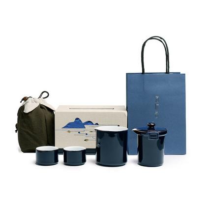 清畔客一壺兩杯旅行茶具套裝辦公室泡茶套裝定制