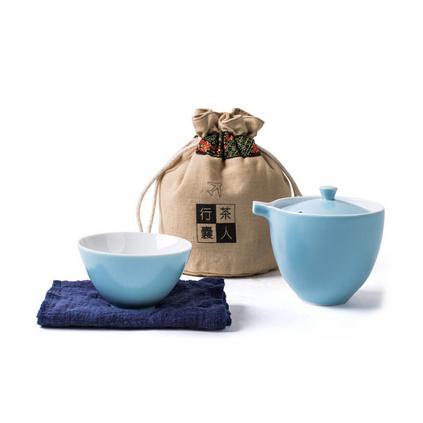 快客杯一壺一杯陶瓷旅行茶具套裝定制