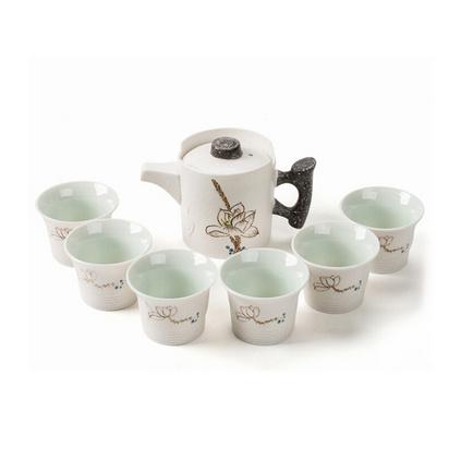 雪花釉茶具套装陶瓷功夫茶具套装定制