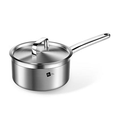 德國米技/miji 銀河系列 18cm不銹鋼炒鍋加厚復合單柄鍋定制