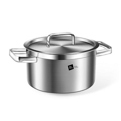 德國米技/miji 銀河系列20cm不銹鋼湯鍋加厚復合雙耳湯鍋定制