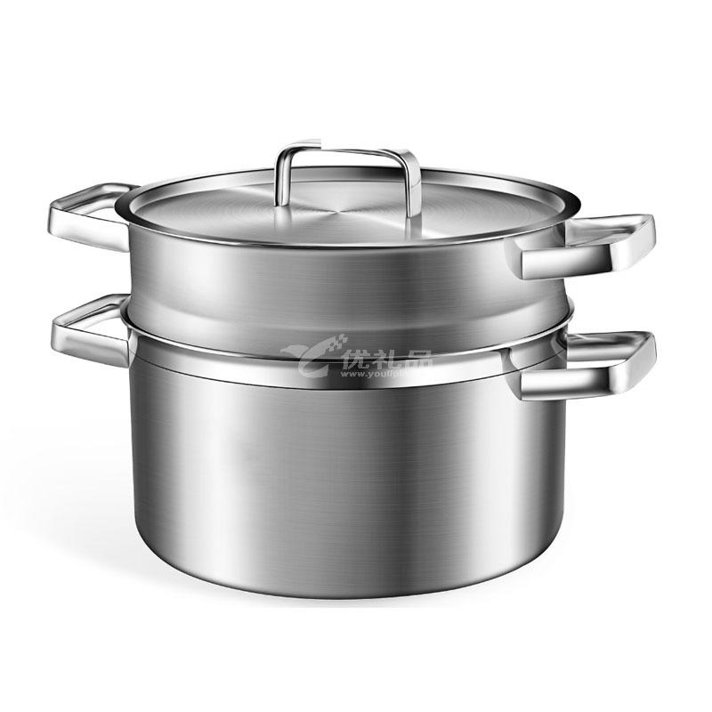 德国米技/miji 银河系列 24CM不锈钢汤锅带蒸格套装定制