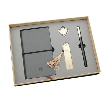 黄铜书签创意新奇特实用商务礼品定制黄铜礼品四件套