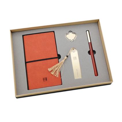 黃銅書簽創意新奇特實用商務禮品定制黃銅禮品四件套