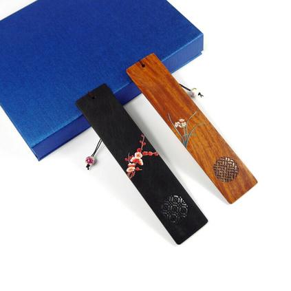 紅木書簽兩件套古典實用商務禮品套裝定制