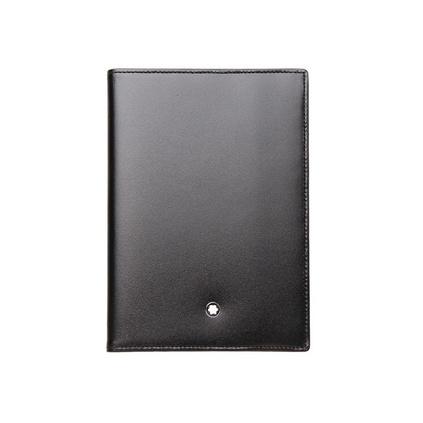MontBlanc萬寶龍35285 男士大班系列黑色牛皮護照套多卡位護照夾定制