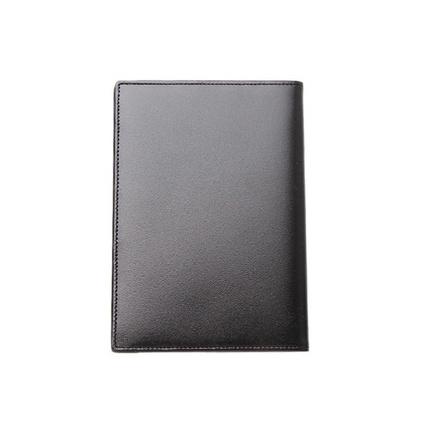 MontBlanc万宝龙35285 男士大班系列黑色牛皮护照套多卡位护照夹定制