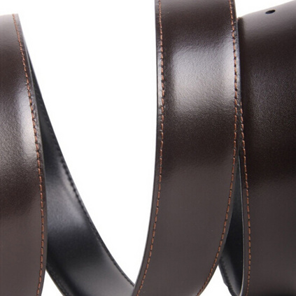 MONTBLANC萬寶龍 9695男士銀色針式帶頭黑色牛皮腰帶皮帶定制
