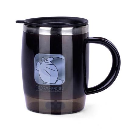 哆啦A梦 尊贵咖啡杯不锈钢卡通叮当猫马克杯定制