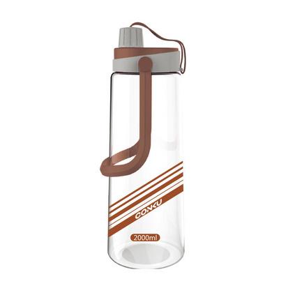 康酷大容量塑料水杯便携户外运动壶带盖2000ML太空杯定制