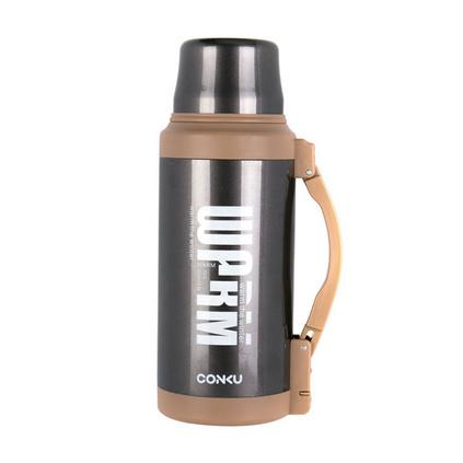 康酷家用旅行保温瓶304不锈钢镀铜真空大容量保温壶暖水瓶定制