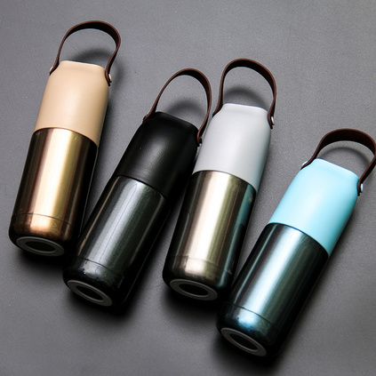 佩奇时尚手提保温杯300ml便携不锈钢创意杯子学生水杯定制