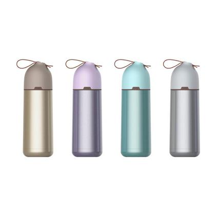由美韓系時尚350ml容量304不銹鋼保溫杯學生情侶隨手杯禮品杯定制