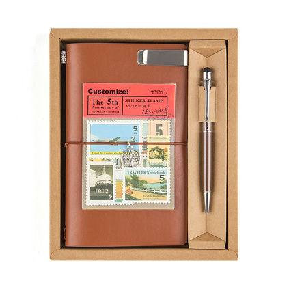 筆記本套裝旅行本創意手賬本定制