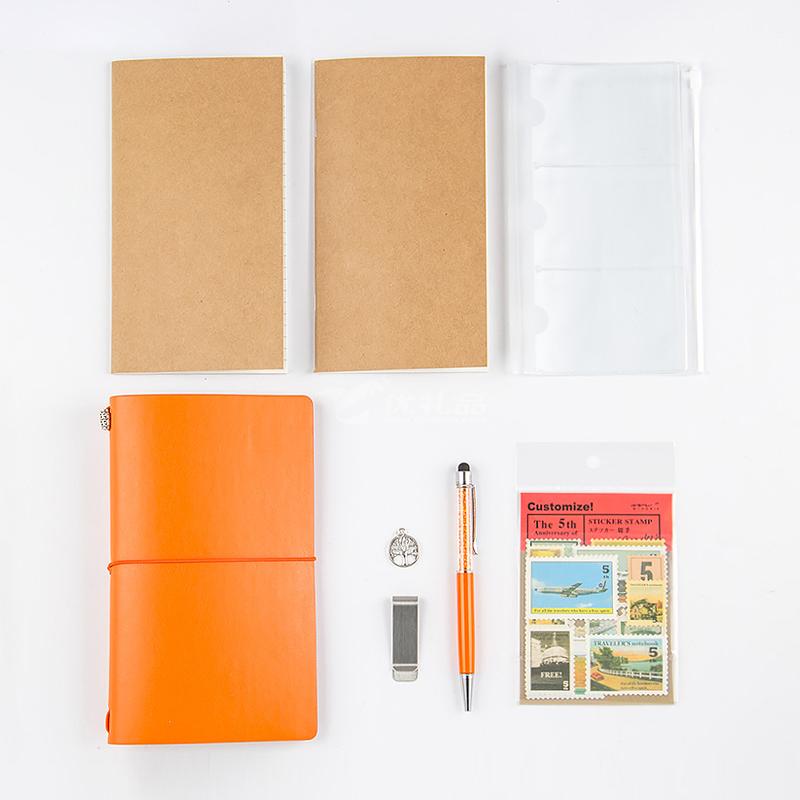笔记本套装旅行本创意手账本定制