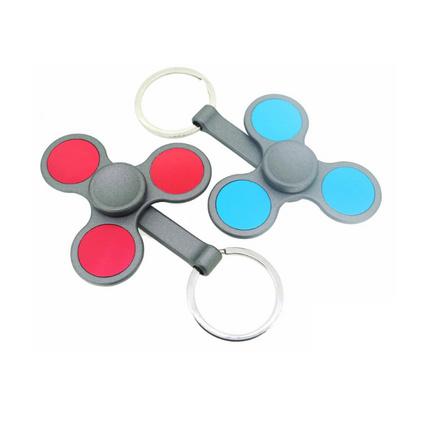 新款指尖陀螺锌合金喷漆定制LOGO钥匙扣玩具