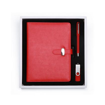 A5筆記本16GU盤筆套裝商務辦公薩搏活頁本定做簡約禮盒套裝日記本可定制