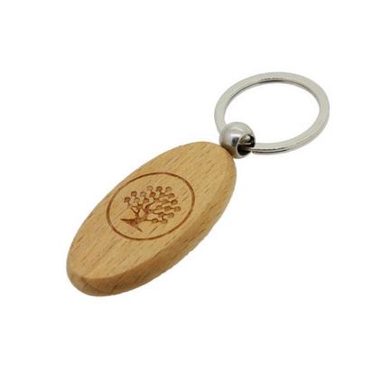 商務禮品刻字LOGO櫸木鑰匙扣鎖匙扣定制