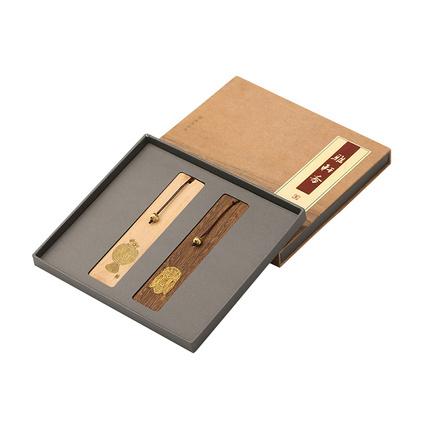 教師節禮品文化禮品紅木書簽套裝定制