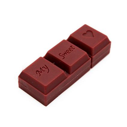 節日食品造型定做 節慶實用創意禮品 巧克力月餅仿真pvc定制u盤 8G