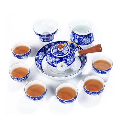 青花瓷茶具套装扒花茶具礼盒定制