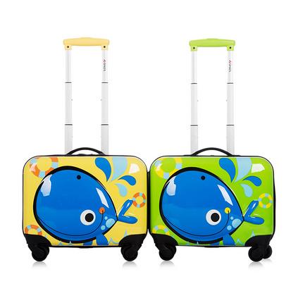 銀座新品兒童拉桿箱萬向輪 3D可愛電腦箱旅行箱 16寸學生登機箱定制