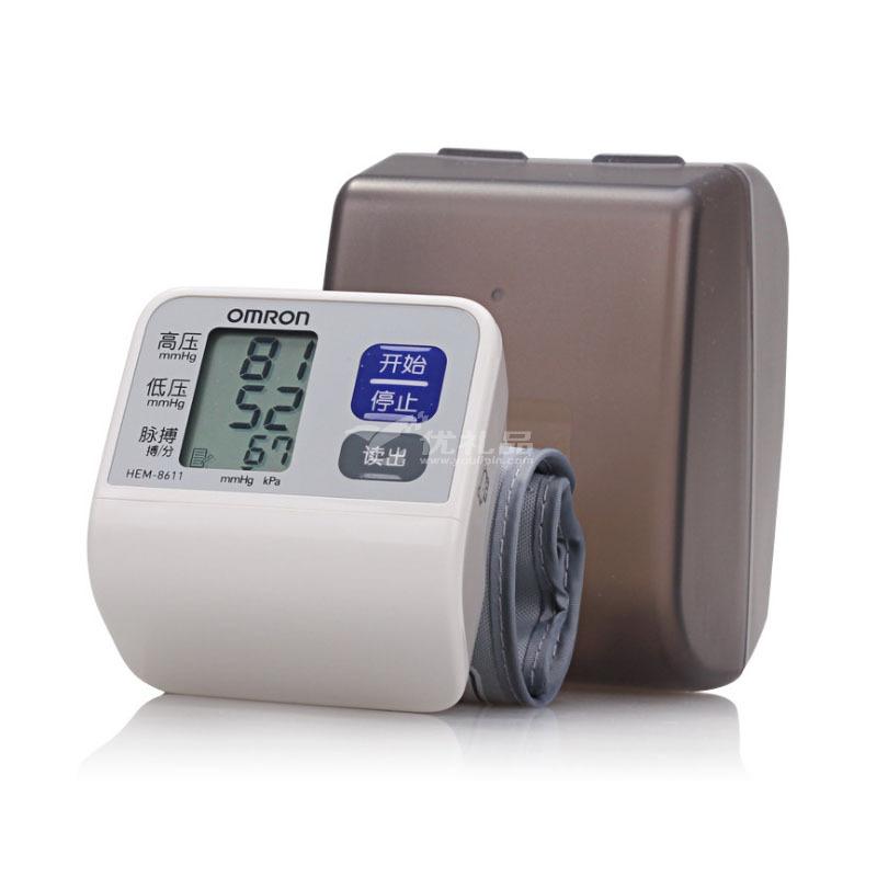 欧姆龙电子血压计手腕式HEM-8611家用全自动血压测量仪器定制