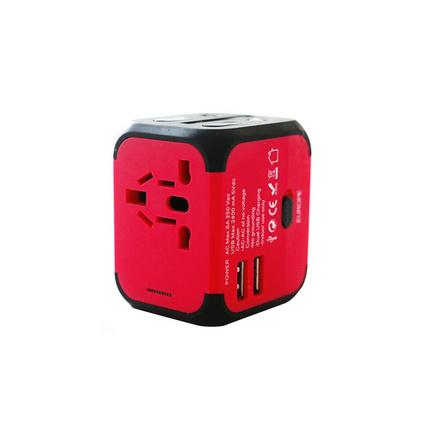 全球通用转换插头双USB多功能插座国际电源转换器插座插头 磨砂三保险丝插座定制