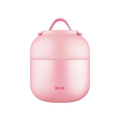 物生物/RELEA 700ML焖烧杯不锈钢真空焖烧罐壶保温桶创意学生保温饭盒定制