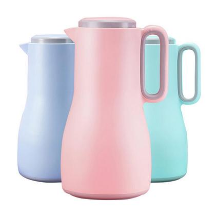 物生物(RELEA) 1.5L沐风家用水壶真空大号保温壶玻璃内胆大容量暖壶热水瓶定制