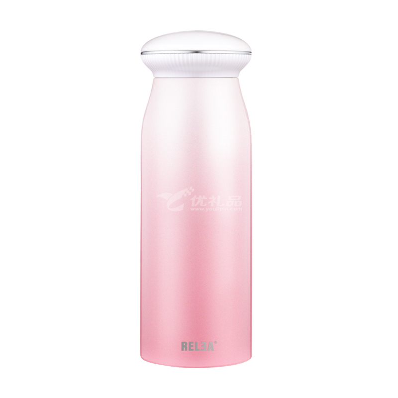 物生物(RELEA) 物生物贝壳便携保温杯女士学生男韩版可爱不锈钢清新文水杯子定制