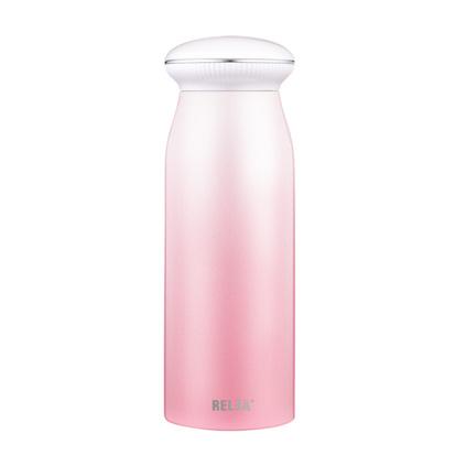 物生物(RELEA) 物生物貝殼便攜保溫杯女士學生男韓版可愛不銹鋼清新文水杯子定制