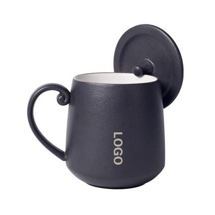马克杯陶瓷杯带手柄带盖高档创意礼品刻字定制