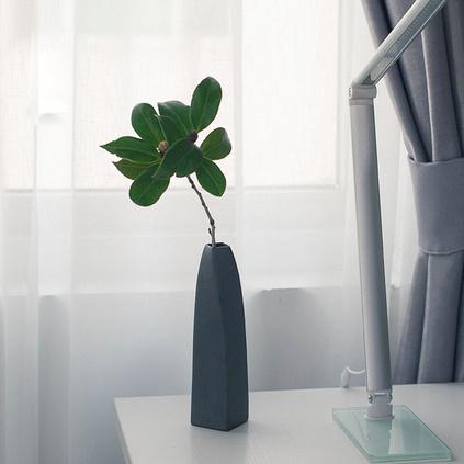 陶瓷小清新家居办公简约中式干花水培方形黑陶花瓶定制