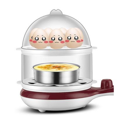 多功能双层蒸蛋器迷你小型煮蛋器自动断电煎锅定制