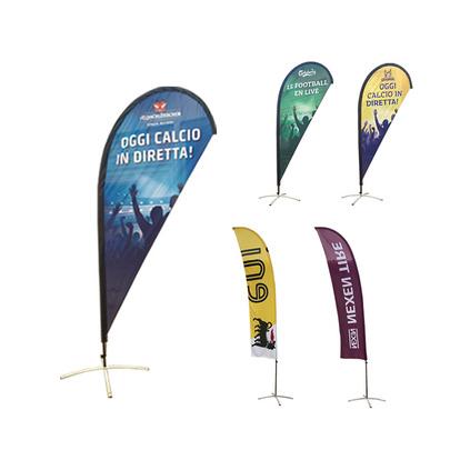 S号沙滩旗定做 多尺寸广告促销沙滩旗 春亚纺大型广告水滴旗 沙滩旗子定制