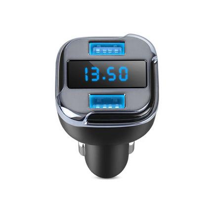 車載充電器尋車定位GPS車充帶顯示屏雙USB車載充電器定制