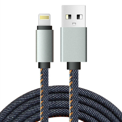 UXIA 新款牛仔线 苹果手机数据线安卓USB充电线定制