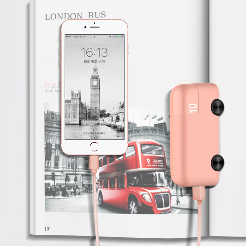 可愛迷你巴士汽車移動電源10000毫安容量便攜充電寶定制
