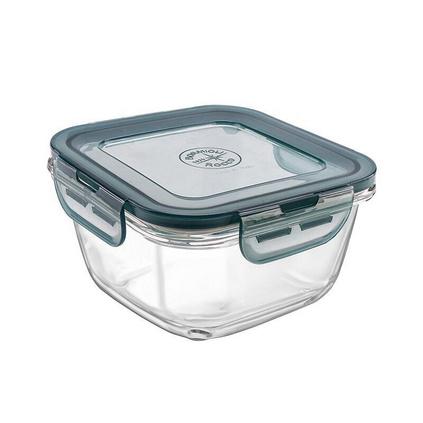 BORMIOLI ROCCO 波米歐利單只意大利進口鋼化玻璃耐熱飯盒餐盒 750ml密封盒透明保鮮盒定制