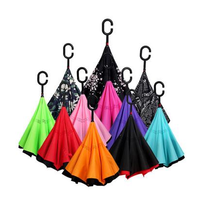 創意雙層傘免持式長柄傘男女晴雨兩用傘戶定制
