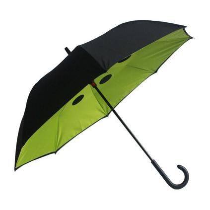 新款個性創意傘雙層反轉直桿傘汽車商務傘反向傘定制