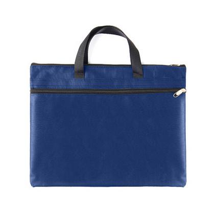 正彩(ZNCI)手提文件袋帆布公文包辦公用品雙層商務會議資料袋事務包定制