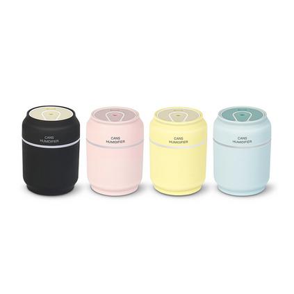 創意三合一易拉罐加濕器家用桌面超聲波迷你usb小型空氣加濕器定制