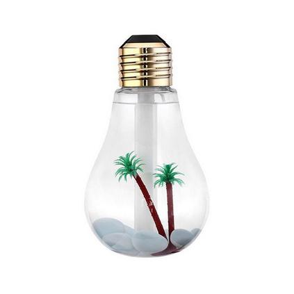 創意燈泡加濕器七彩夜燈加濕器禮品迷你桌面usb超聲波家用加濕器定制