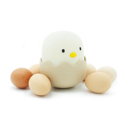 創意蛋殼雞情感燈不倒翁硅膠小雞燈起夜燈嬰兒喂奶燈定制